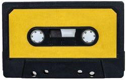 Yellow vintage retro cassete Stock Photos