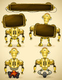 Yellow vintage robot devices Stock Image