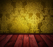 Yellow vintage room Royalty Free Stock Photography