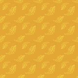 Yellow vintage seamless floral pattern Royalty Free Stock Images