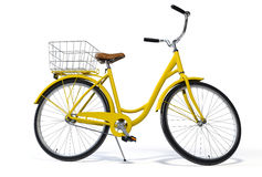 Yellow Vintage Style Bike Stock Images