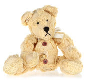 Yellow Vintage Teddy Bear Stock Photography