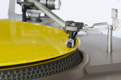 Yellow vinyl record Royalty Free Stock Images