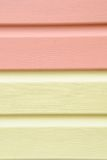 Yellow vinyl siding material for Stock Photography