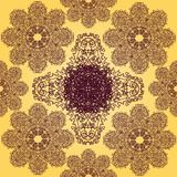 Yellow and Violet Seamless Pattern Stock Images