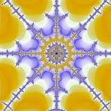 Yellow and violet thin fractal mandala royalty free illustration
