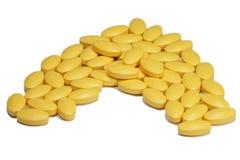 Yellow vitamin Stock Photo