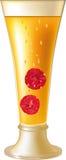 Yellow vodka and raspberry Stock Image