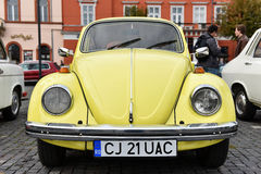 Yellow Volkswagen vintage car Royalty Free Stock Images