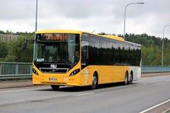 Yellow Volvo 8900 Bus in Urban Environment Stock Photo