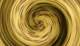 Yellow vortex with dots Stock Photo