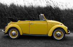 Yellow VW royalty free stock image