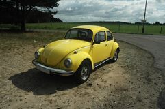 Yellow VW Beetle 1302 Royalty Free Stock Image