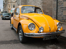 Yellow VW Beetle Royalty Free Stock Images