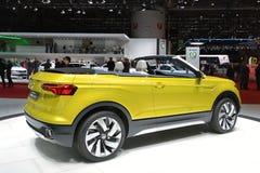 Volkswagen T-Cross Breeze concept. Yellow VW T-Cross Breeze at 86th International Auto Show, Geneva 2016 stock photography