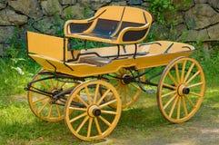 Yellow wagon Royalty Free Stock Photo
