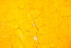 Yellow wall background Royalty Free Stock Photos