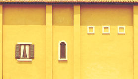 Yellow wall for background Royalty Free Stock Photography