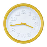 Yellow wall clock Stock Image