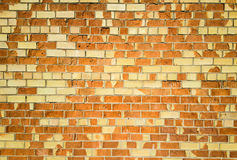 Yellow wall. Cracked yellow brick wall background which looks like some kind of barcode royalty free stock photo