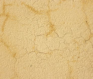 Yellow wall with cracks. Royalty Free Stock Photo