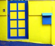 Yellow wall and door. At the outside Royalty Free Stock Images