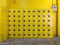 Decoration and design.Yellow locker design. stock photo