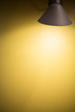 Yellow wall with Light Stock Photos