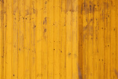 Yellow wall made of wooden boards Royalty Free Stock Images
