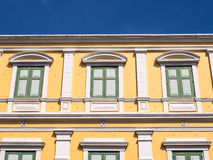 Yellow wall of Ministry of Defense Stock Photo