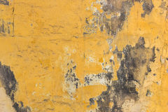 Yellow wall with mold background Royalty Free Stock Photos