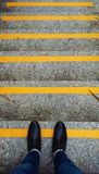 Yellow, Wall, Road Surface, Line Royalty Free Stock Photography