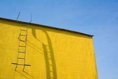 Yellow wall and sky Royalty Free Stock Image