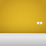 Yellow Wall with Socket and Switch Royalty Free Stock Images