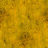 Yellow wall stains plaster cracks paint seamless Royalty Free Stock Photography