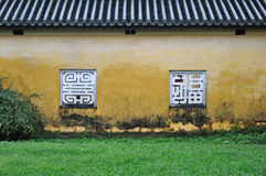 Yellow Wall and Window, Hue Citadel Royalty Free Stock Photo