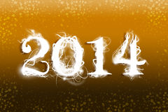 2014 yellow wallpaper Stock Images