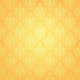 Yellow wallpaper pattern Stock Images