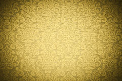 Yellow Wallpaper Texture Royalty Free Stock Photos