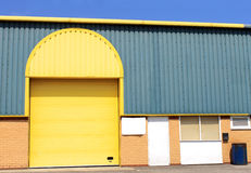 Yellow warehouse building Stock Photos