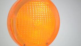 Yellow warning light in action flashing stock footage