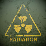 Yellow warning sign for radioactivity. Stock  illustration Royalty Free Stock Image