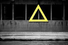 Yellow warning triangle Royalty Free Stock Image