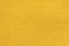 Yellow washed carpet texture, linen canvas white texture background.  Stock Photography