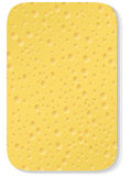 Yellow washing sponge Stock Photo