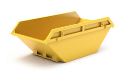 Yellow waste skip Royalty Free Stock Photography