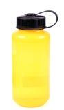 Yellow water bottle. Beautiful closeup shot of yellow water bottle stock photo