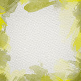 Yellow Water Color Frame. Frame from  watercolor stains on white paper Stock Images