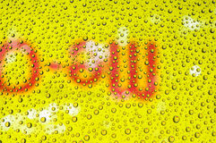 Yellow water drop Royalty Free Stock Image