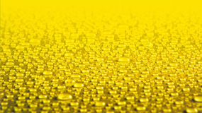 Yellow water drops background Stock Image